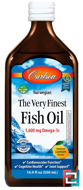 Norwegian, The Very Finest Fish Oil, Natural Lemon Flavor, Carlson Labs, 16.9 fl oz (500 ml)