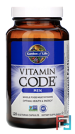 Vitamin Code, Men, Garden of Life, 120 Veggie Caps