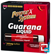 Guarana Liquid 200 mg, Power System, 25 ml * 20 amp