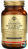 Advanced Multi-Billion Dophilus, Solgar, 60 Vegetable Capsules