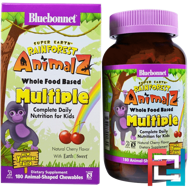 Super Earth, Rainforest Animalz, Whole Food Based Multiple, Natural Cherry Flavor, Bluebonnet Nutrition, 180 Chewables