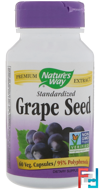 Grape Seed, Standardized, Nature's Way, 60 Veg. Capsules