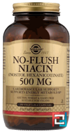 No-Flush Niacin, Solgar, 500 mg, 250 Vegetable Capsules