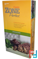 Classic, All-Natural Nutrition Bars, Chocolate Mint, ZonePerfect, 12 Bars, 1.76 oz (50 g) Each)