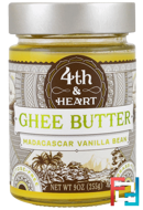 Ghee Butter, Grass-Fed, Madagascar Vanilla Bean, 4th & Heart, 9 oz (225 g)