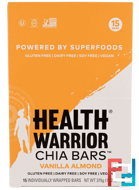Chia Bars, Vanilla Almond, Health Warrior, Inc., 15 Bars, 13.2 oz (375 g)