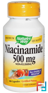 Niacinamide, 500 mg, Nature's Way, 100 Capsules