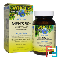 Whole Earth & Sea, Men's 50+ Multivitamin & Mineral, Natural Factors, 60 Tablets