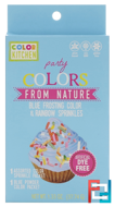 Party, Colors From Nature, Blue Frosting Color & Rainbow Sprinkles, ColorKitchen, 1.33 oz (37.74 g)