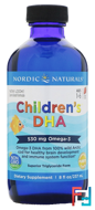 Children's DHA, Strawberry, Nordic Naturals, 8 fl oz (237 ml)