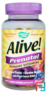 Alive! Prenatal, Gummy Vitamins, Nature's Way, 75 Gummies