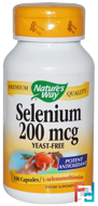 Selenium, 200 mcg, Nature's Way, 100 Capsules