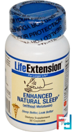 Enhanced Natural Sleep without Melatonin, Life Extension, 30 Capsules