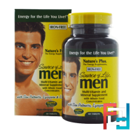 Source of Life Men, Multi-Vitamin and Mineral Supplement, Iron-Free, Nature's Plus,  60 Tablets