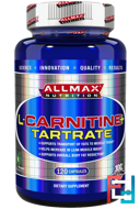 L-Carnitine+ Tartrate, ALLMAX Nutrition, 735 mg, 120 capsules