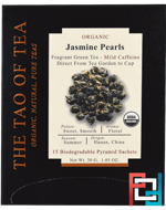 Organic Jasmine Pearls, The Tao of Tea, 15 Pyramid Sachets, 1.05 oz, 30 g