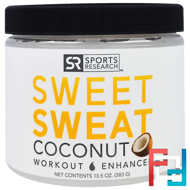 Sweet Sweat Workout Enhancer, Coconut, Sports Research, 13.5 oz (383 g)
