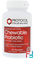 Chewable Probiotic, For Children and Adults, Protocol for Life Balance, 90 Chewables