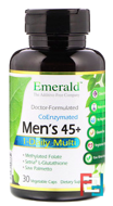 Men's 45+ Multi Vit-A-Min, 1 Daily, Emerald Laboratories, 30 Veggie Caps