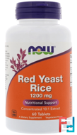 Red Yeast Rice, Now Foods, 1200 mg, 60 Tablets
