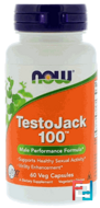 TestoJack 100, Now Foods, 60 Veggie Caps