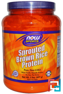 Sprouted Brown Rice Protein, Now Foods, 2 lbs, 907 g