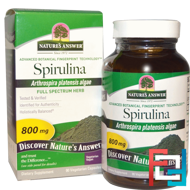 Spirulina, Nature's Answer, 800 mg, 90 Vegetarian Capsules