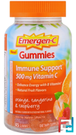 Guumies, Orange, Tangerine & Raspberry, Emergen-C, 45 Gummies