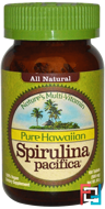 Pure Hawaiian Spirulina Pacifica, Nature's Multi-Vitamin, Nutrex Hawaii, 500 mg, 100 Tablets