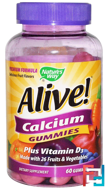 Alive! Calcium, Nature's Way, 60 Gummies