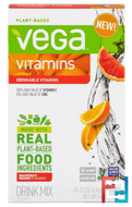 Vitamins, Vega Drink Mix, Vega, 20 Pouches * 6.8 g