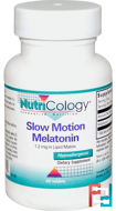 Slow Motion Melatonin, Nutricology, 1.2 mg, 60 Tablets