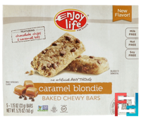 Baked Chewy Bars, Caramel Blondie, Enjoy Life Foods, 5 Bars, 1.15 oz (33 g) Each