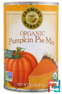 Organic Pumpkin Pie Mix, Farmer's Market Foods, 15 oz (425 g)