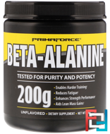 Beta-Alanine, Unflavored, Primaforce, 200 g