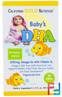 Baby's DHA, 1050 mg, Omega-3s with Vitamin D3, California Gold Nutrition, CGN, 2 fl oz (59 ml)