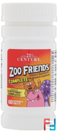 Zoo Friends Complete, 21st Century, 60 Chewable Tablets