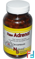 Raw Adrenal, Natural Sources, 60 Capsules