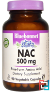 NAC, Bluebonnet Nutrition, 500 mg, 90 Vcaps