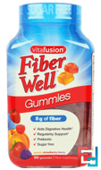 Fiber Well, Peach, Strawberry, Berry, VitaFusion, 90 Gummies