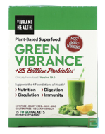 Green Vibrance +25 Billion Probiotics, Version 14.1, Vibrant Health, 15 Packets, 6.4 oz (181.5 g)