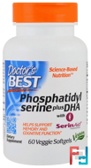 Phosphatidylserine Plus DHA, Doctor's Best, 60 Veggie Softgels