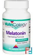 Melatonin, Fast Acting Formula, Nutricology, 1.3 mg, 100 Veggie Caps