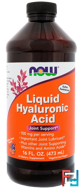 Liquid Hyaluronic Acid, Berry Flavor, 100 mg, Now Foods, 473 ml