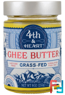 Ghee Butter, Grass-Fed, Himalayan Pink Salt, 4th & Heart, 9 oz (225 g)