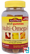 Adult Gummies, Multi + Omega-3, Nature Made, 90 Gummies