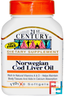 21st Century, Norwegian Cod Liver Oil, 110 Softgels