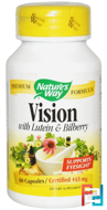 Nature's Way, Vision, With Lutein & Bilberry, 443 mg, 60 Capsules