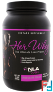 Her Whey, Ultimate Lean Protein, Chocolate Eclair, NLA for Her, 2 lbs (905 g)