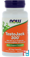 TestoJack 300, 300 mg, Now Foods, 60 Veg Capsules